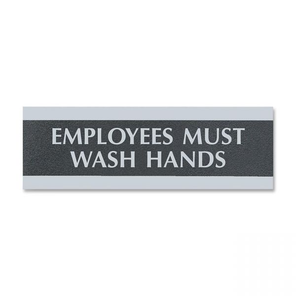 """U.S. Stamp & Sign """"Employees Must Wash Hands"""" Sign"""
