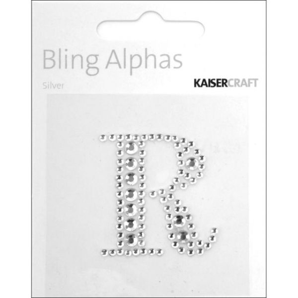 "Bling Alphas Self-Adhesive Rhinestone Letter 1.375"""
