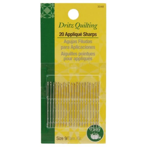 Dritz Quilting Applique Sharps Needles
