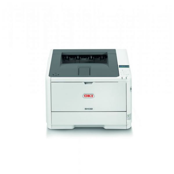 Oki B432dn LED Printer - Monochrome - 1200 x 1200 dpi Print - Plain Paper Print - Desktop