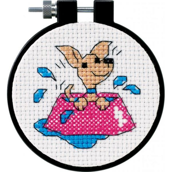 Dimensions Learn-A-Craft Perky Puppy Counted Cross Stitch Kit