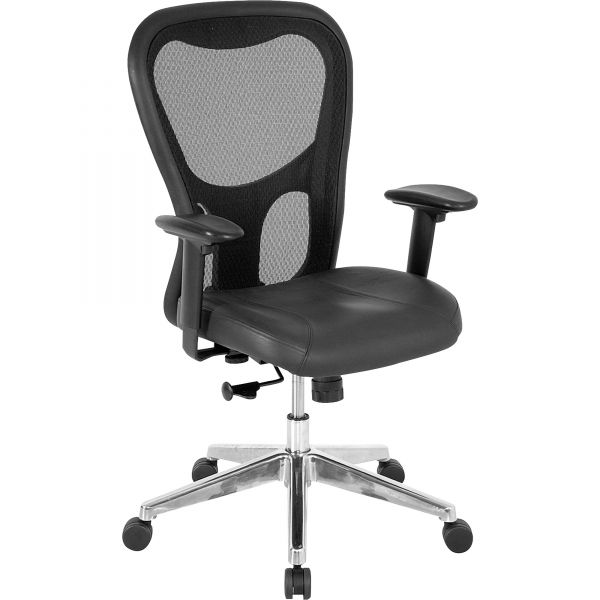 Lorell Mid Back Executive Mesh Office Chair