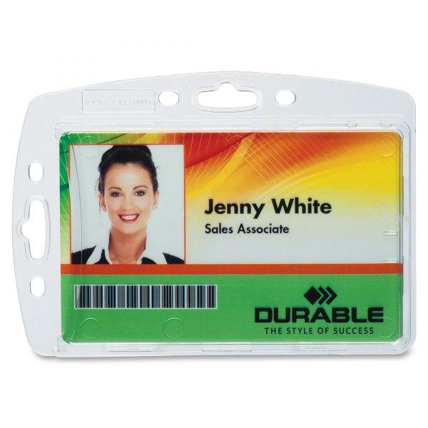 Durable Vertical/Horizontal Badge Holders