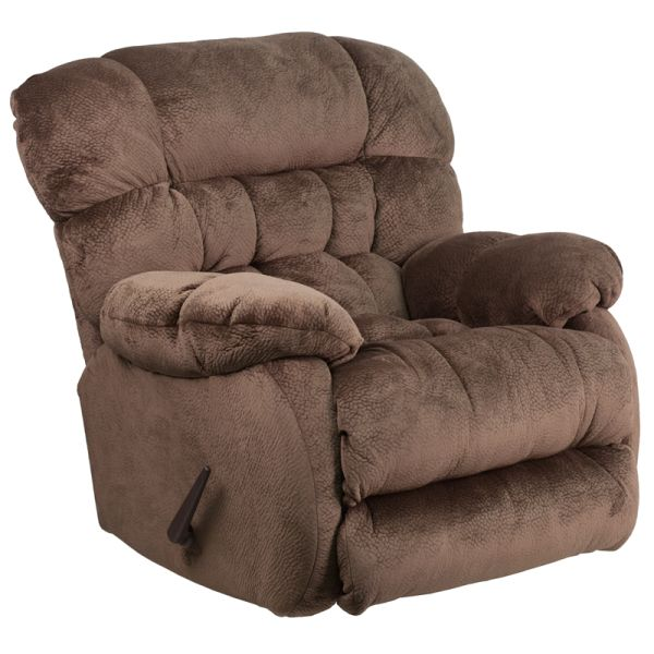 Flash Furniture Contemporary Sharpei Espresso Microfiber Rocker Recliner