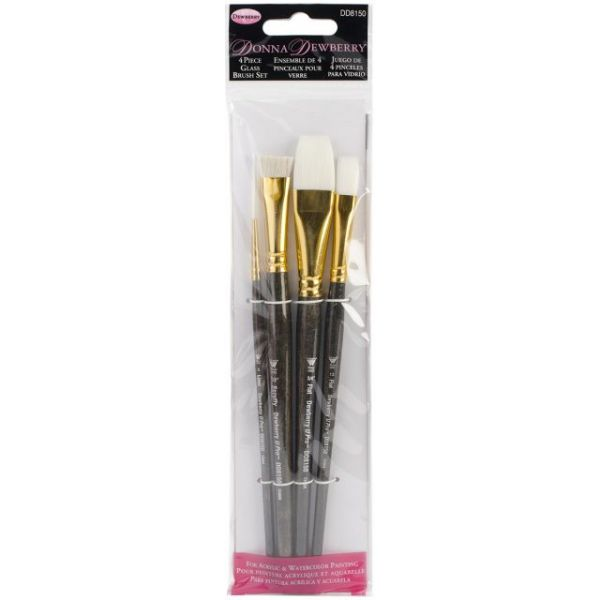 Donna Dewberry Glass Brush Set