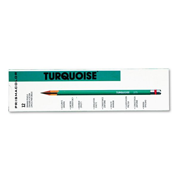 Prismacolor Turquoise Drawing Pencil, 4H, 1.98 mm, Dozen