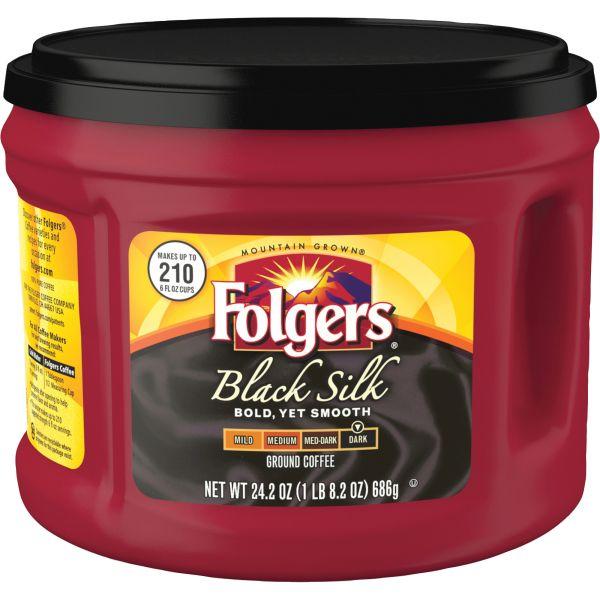 Folgers Black Silk Ground Coffee (1.51 lb)