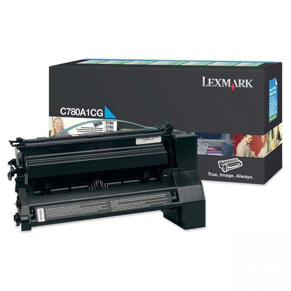 Lexmark C780A1CG Cyan Return Program Toner Cartridge