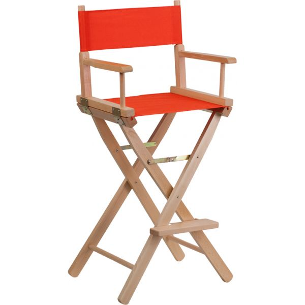 Flash Furniture Bar Height Directors Chair in Red