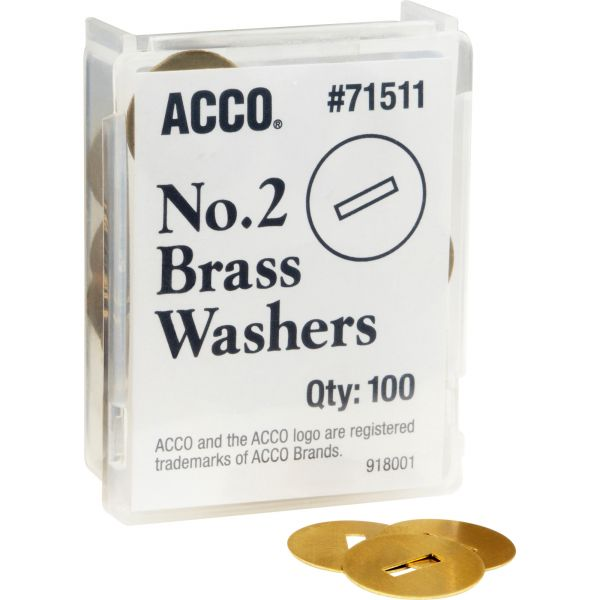 Acco Solid Round Head Washers