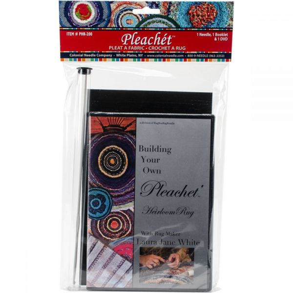 Pleachet Rug Needle, How-To Booklet & DVD