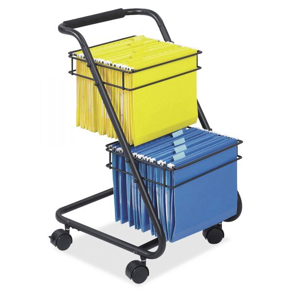 Safco Jazz Two-Tier Mobile File Cart