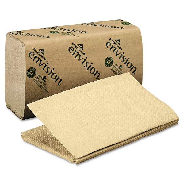 Georgia Pacific Professional 1 Fold Paper Towel, 10 1/4 x 9 1/4, 1-Ply, Brown, 250 Sheets/Pack, 16 Packs/Carton