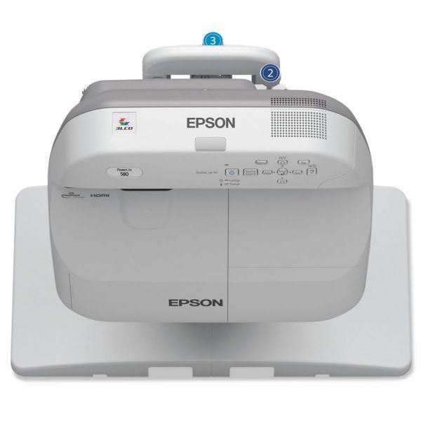 Epson PowerLite 580 XGA 3LCD Projector, 3200 Lumens, 1024 x 768 Pixels, 1.35x Zoom