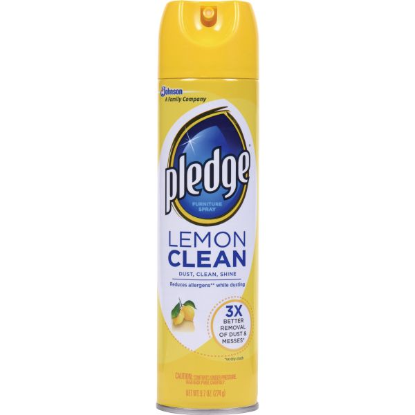 Pledge Lemon Clean Furniture Spray 9.7 oz.