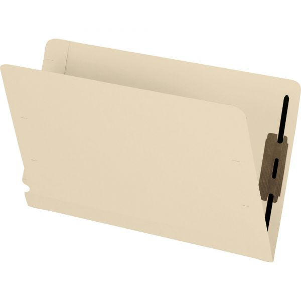 Pendaflex Laminated Spine End Tab Folder with 2 Fasteners, 11 pt Manila, Legal, 50/Box