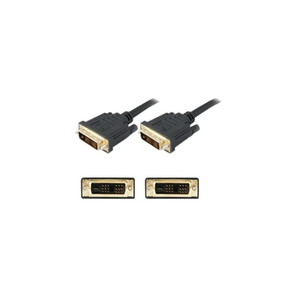 AddOn 3.05m (10.00ft) DVI-D Dual Link (24+1 pin) Male to Male Black Cable