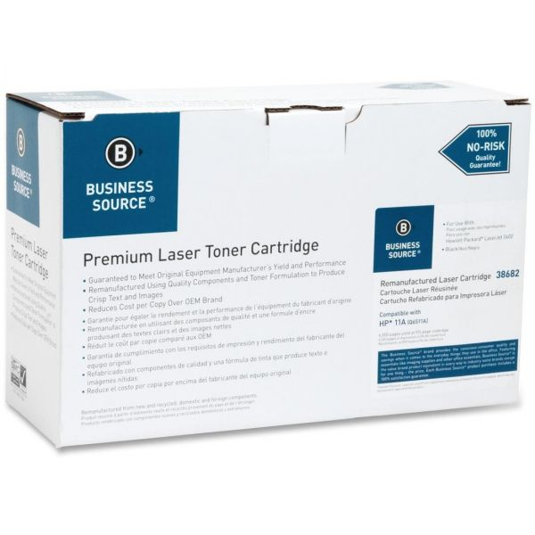 Business Source Remanufactured HP 49X (Q6511A) High Yield Toner Cartridge