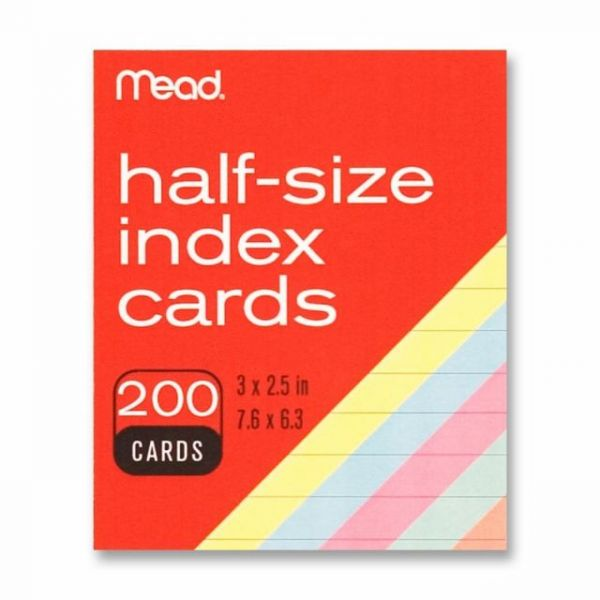 "Mead 3"" x 2.5"" Ruled Index Cards"