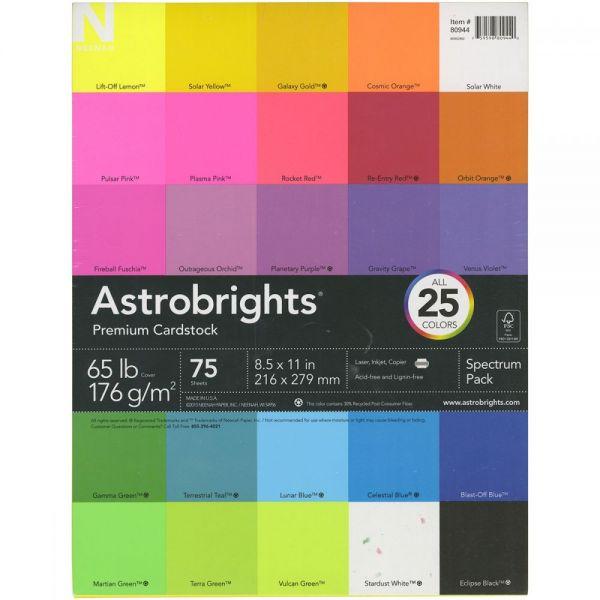 """Neehan Astrobrights Spectrum Cardstock 8.5""""X11"""" 75/Pkg"""