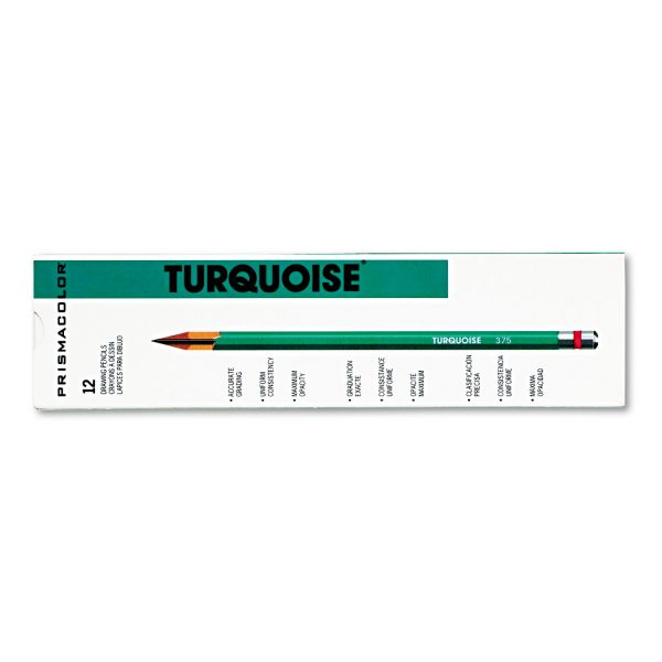 Prismacolor Turquoise Drawing Pencil, HB, 1.98 mm, Dozen