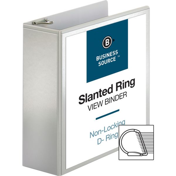 "Business Source 4"" 3-Ring View Binder"