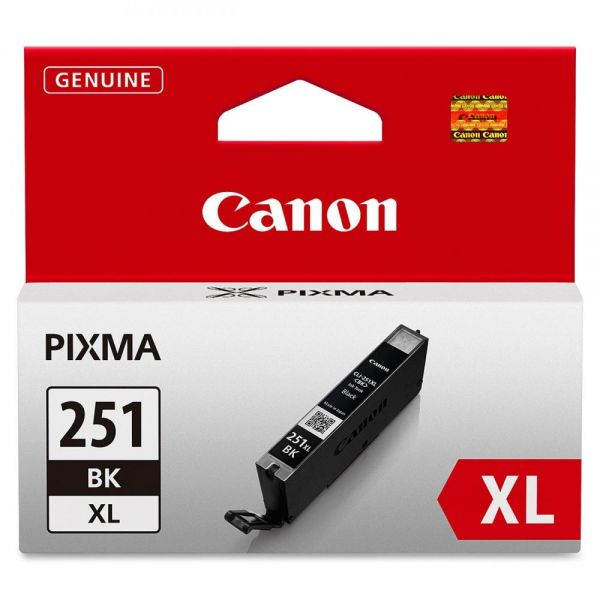 Canon CLI-251XLBK Black High Yield Ink Cartridge (6448B001)