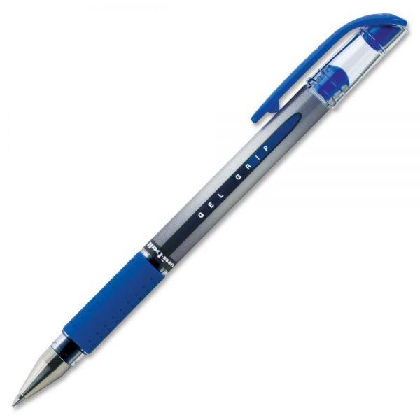 uni-ball Signo Gel GRIP Roller Ball Stick Gel Pen, Blue Ink, Medium, Dozen