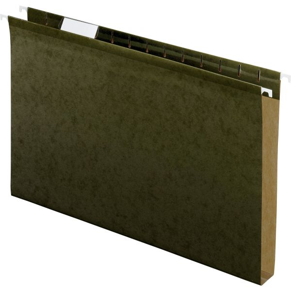 "Pendaflex Reinforced 1"" Extra Capacity Hanging Folders, Legal, Standard Green, 25/Box"