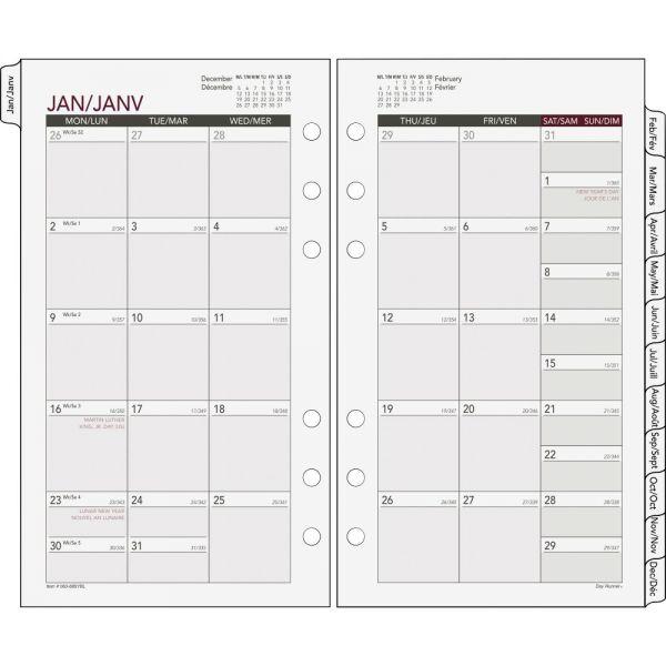 Day Runner Tabbed Monthly Calendar Refill