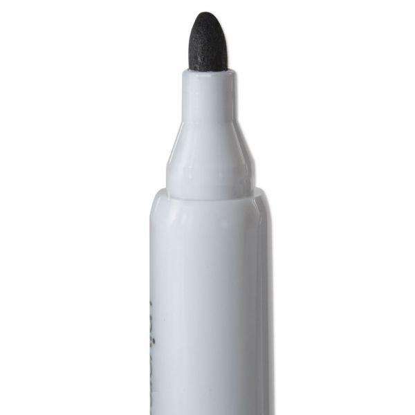 Dry Erase Marker, Bullet Tip, Black, Dozen
