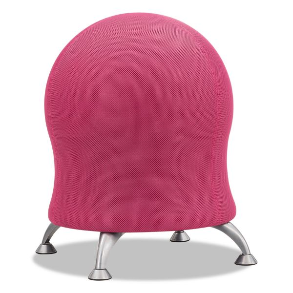 "Safco Zenergy Ball Chair, 22 1/2"" Diameter x 23"" High, Pink/Silver"