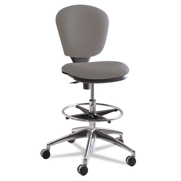 Safco Metro Collection Extended Height Swivel/Tilt Chair, Gray Fabric
