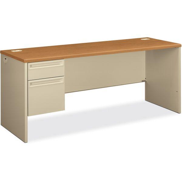 "HON 38000 Series Left Pedestal Credenza | 1 Box / 1 File Drawer | 72""W"
