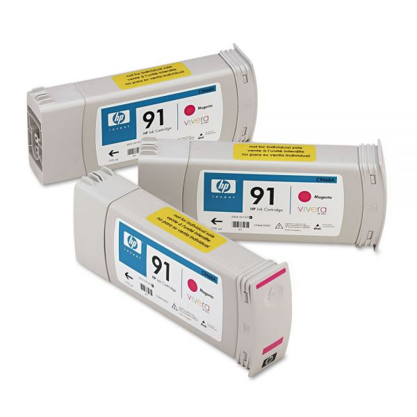 HP HP 91, (C9484A) 3-pack Magenta Original Ink Cartridges
