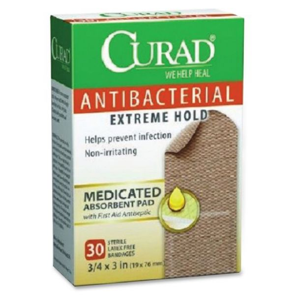 Curad Antibacterial Extrm Hold Bandages