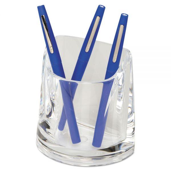 Swingline Stratus Acrylic Pen Cup, 4 1/2 x 2 3/4 x 4 1/4, Clear