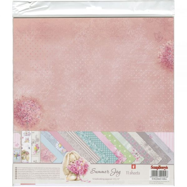 "ScrapBerry's Summer Joy Paper Pack 12""X12"" 11/Pkg"
