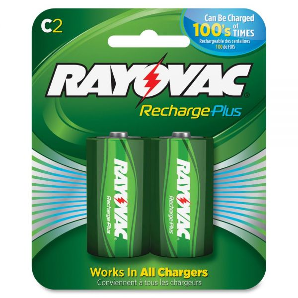 Rayovac Recharge Plus C Batteries