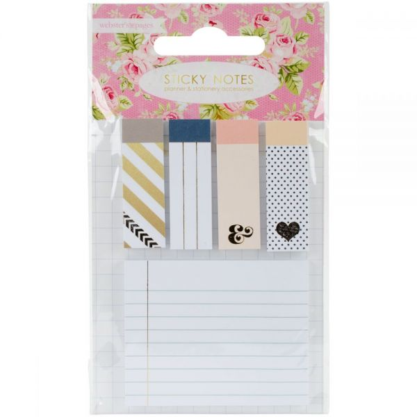 Color Crush Planner Sticky Notepad Accents 5/Pkg