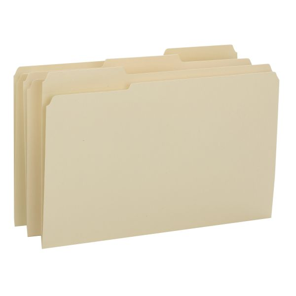 Smead 15434 Manila File Folders with Reinforced Tab