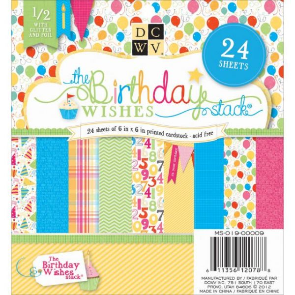 The Birthday Wishes Cardstock Paper Stack