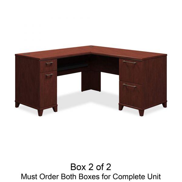 Bush Enterprise Collection 60w x 60d L-Desk Surface Only, Harvest Cherry, Box 2 of 2