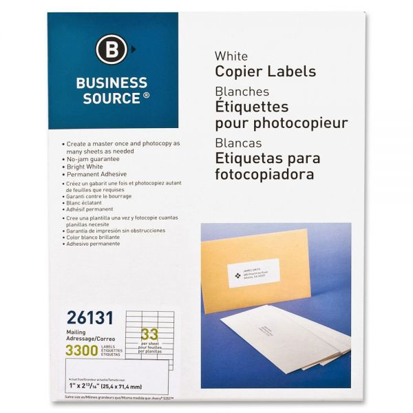 Business Source Copier Address Labels