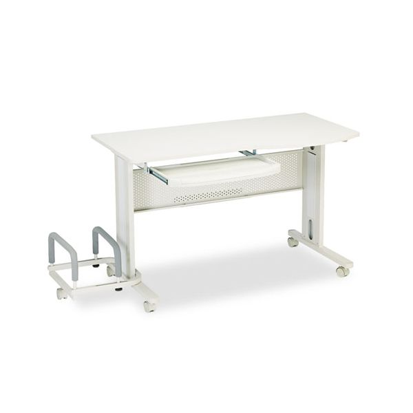Tiffany Industries Eastwinds Mobile Work Table, 57w x 23-1/2d x 29h, Gray Laminate Top