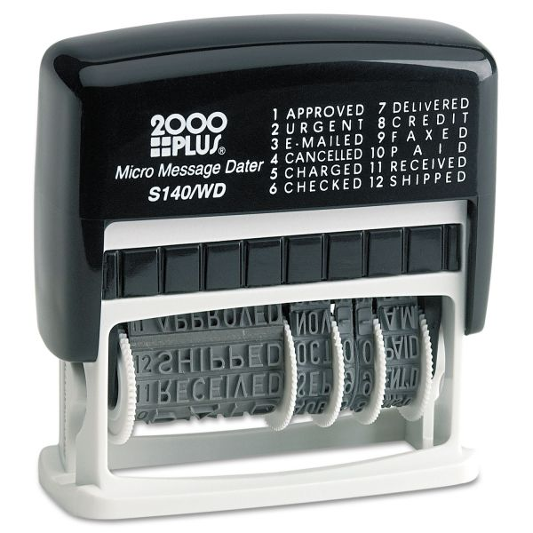 2000 Plus self-inking micro message dater, type size 1