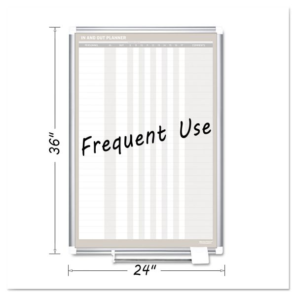 MasterVision In-Out Magnetic Dry Erase Board, 24x36, Silver Frame