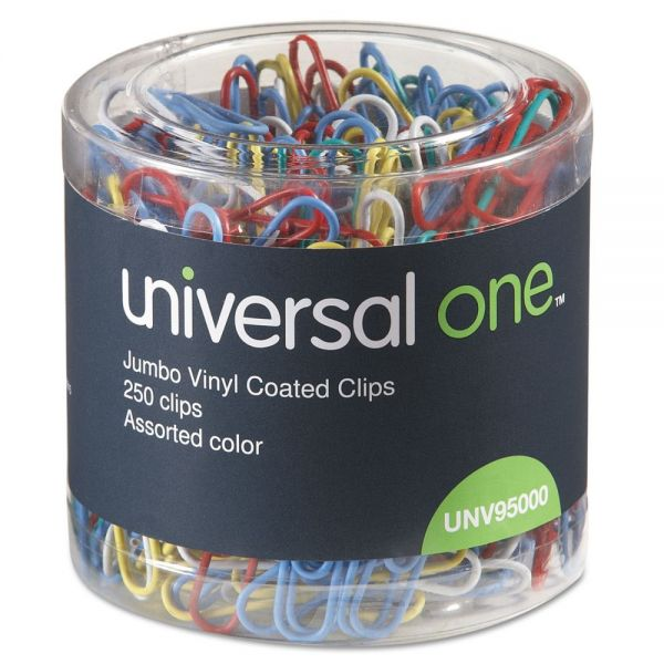 Universal One Jumbo Vinyl-Coated Paper Clips