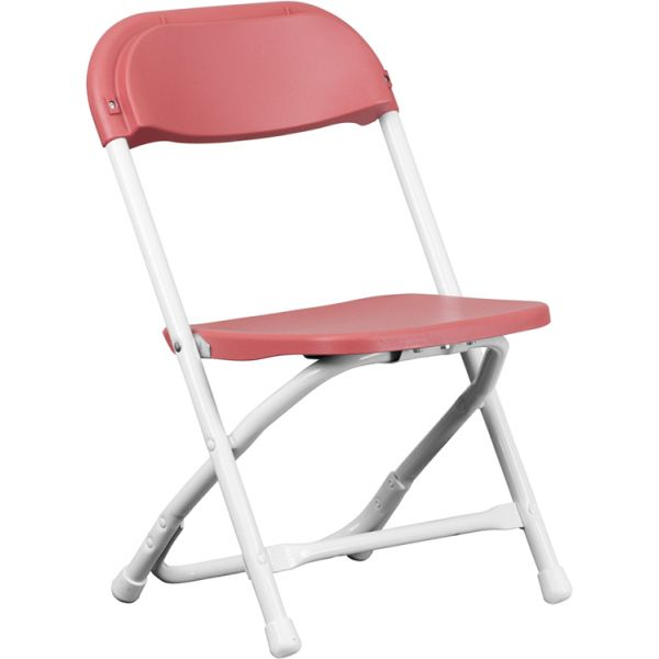 Flash Furniture Kids Burgundy Plastic Folding Chair