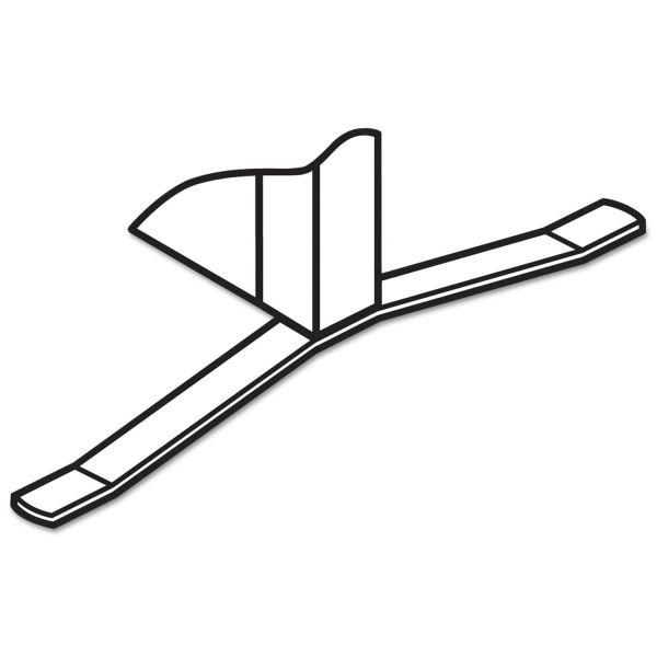 HON Versé T-Base Foot Connecting Hardware, Gray